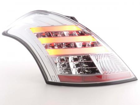LED Lightbar Rückleuchten Set Suzuki Swift Bj. 2011- chrom