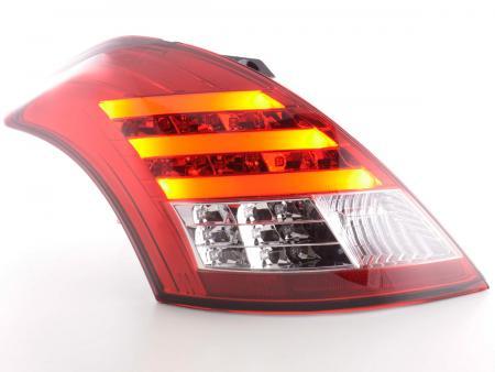 LED Lightbar Rückleuchten Set Suzuki Swift Bj. 2011- rot/klar