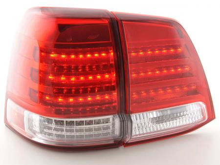 LED Rückleuchten Heckleuchten Set Toyota Land Cruiser FJ200 2007 - 2008 rot/klar