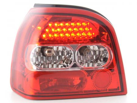 LED Rückleuchten Heckleuchten Set VW Golf 3 1HXO  1992 - 1997 klar/rot