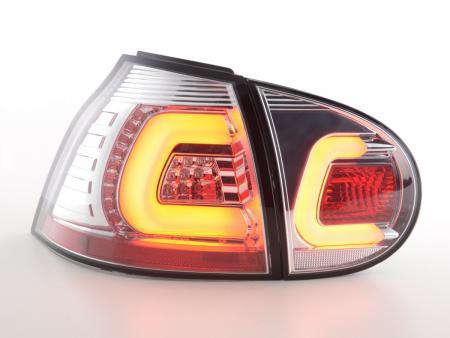 LED Lightbar Rückleuchten Set VW Golf 5 Bj. 03-08 chrom mit Led Blinker