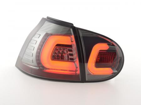LED Lightbar Rückleuchten Set VW Golf 5  03-08 schwarz mit LED Blinker