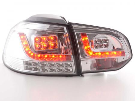 LED Rückleuchten Heckleuchten Set VW Golf 6 1K  2008 - 2012 chrom mit Led Blinker