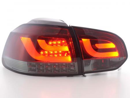 LED Lightbar Rückleuchten Set VW Golf 6 1K Bj. 08-12 rot/smok mit Led Blinker