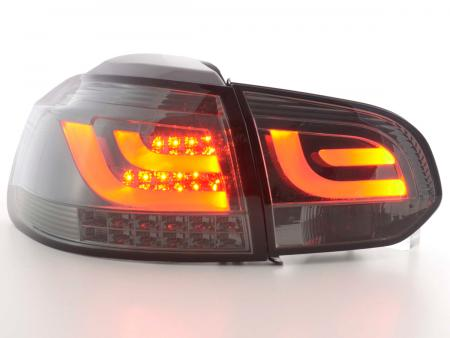 LED Lightbar Rückleuchten Set VW Golf 6 1K 08-12 smoke mit Led Blinker
