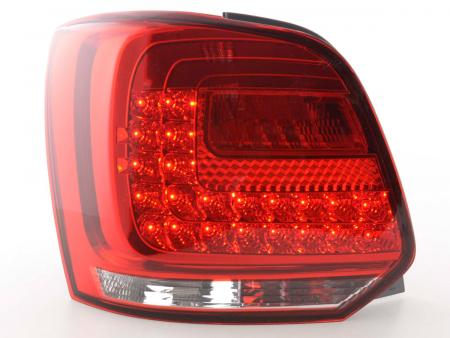 Led Taillights VW Polo 6R Yr. from 2009 clear/red