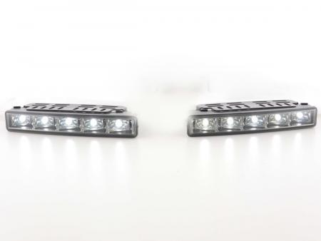 Tagfahrlicht LED mit Schaltrelais universal Set schwarz