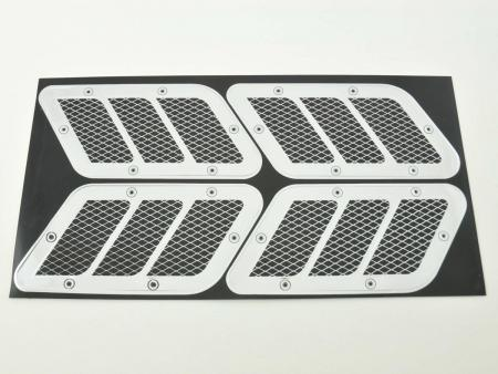Lufteinlass Aufkleber Set 4x ca. 125 x 55 mm universal