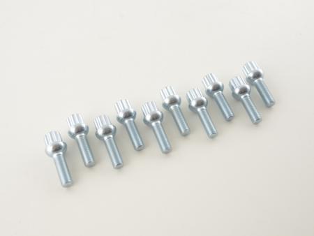 Radschrauben Set (10 Stk.) Schaftlänge 35mm Kugelbund silber M12x1,5