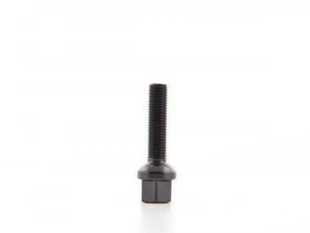 Radschrauben Set (8 Stk.) Schaftlänge 45mm Kugelbund schwarz M12x1,5
