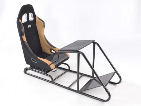 Palette 3x FK Gamesitz Spielsitz Rennsimulator eGaming Seats Estoril schwarz/beige
