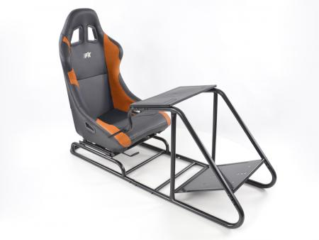 Palette 3x FK Gamesitz Spielsitz Rennsimulator eGaming Seats Estoril schwarz/orange