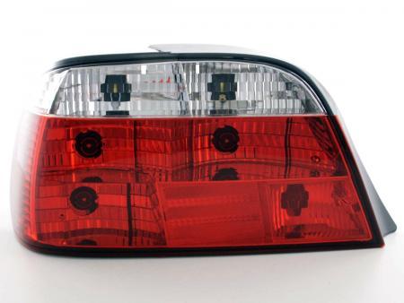 Rückleuchten Heckleuchten Set BMW 7er E38 Bj. 95-02, rot/klar