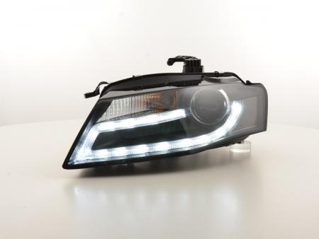 Scheinwerfer Set Xenon Daylight LED Tagfahrlicht Audi A4 B8 8K Bj. 07-11 schwarz