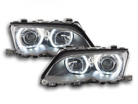 Scheinwerfer Angel Eyes LED BMW 3er E46 Bj. 01-03 schwarz