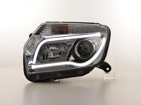 Scheinwerfer Set Daylight LED TFL-Optik Dacia Duster Bj. 10-13 chrom