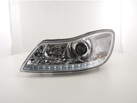 Scheinwerfer Set Daylight LED TFL-Optik Skoda Oktavia ab Bj. 2009 chrom