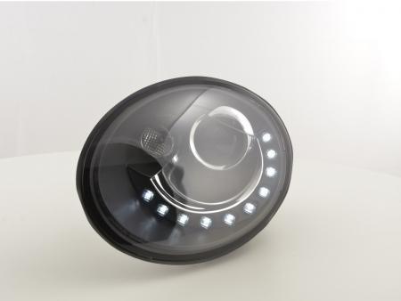 Scheinwerfer Set Daylight LED TFL-Optik VW New Beetle ab Bj. 2006 schwarz