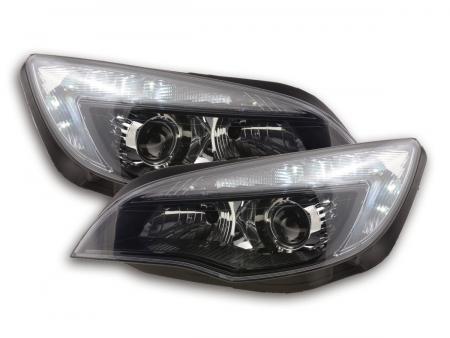 Scheinwerfer Set Daylight LED Tagfahrlicht Opel Astra J Bj. 2009-2012 schwarz