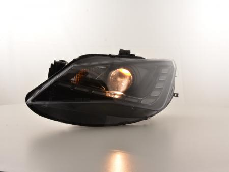Scheinwerfer Set Daylight LED TFL-Optik Seat Ibiza 6J Bj. ab 2012 schwarz