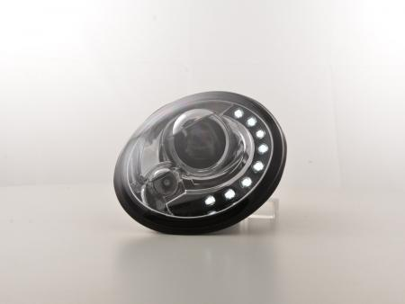 Scheinwerfer Set Daylight LED TFL-Optik VW New Beetle 9C Bj. 98-05 chrom