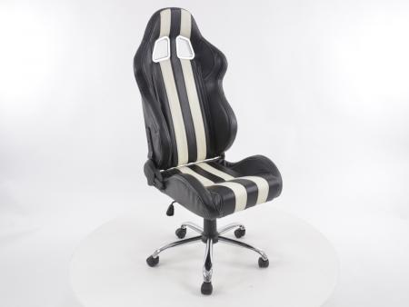 Palette 4x FK Sportsitz Bürodrehstuhl Nashville schwarz/weiß Chefsessel Drehstuhl Bürostuhl