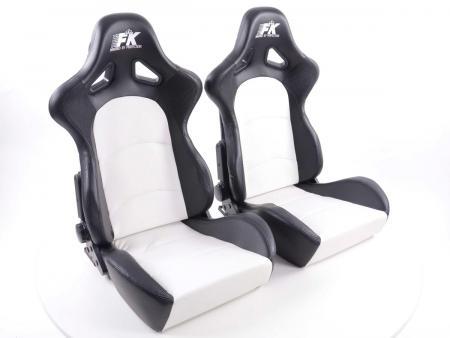 FK Sportsitze Auto Halbschalensitze Set Control in Motorsport-Optik