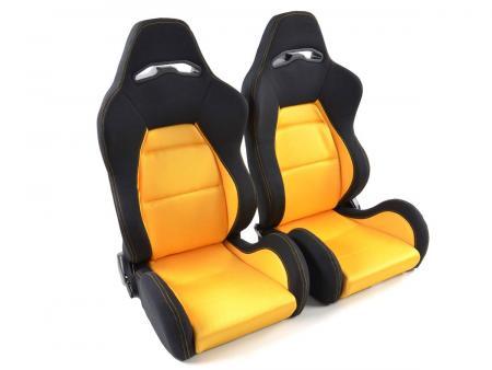 Palette 3x FK Sportsitze Auto Halbschalensitze Set Edition 3 Stoff gelb/schwarz