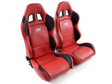 FK Sportsitze Auto Halbschalensitze Set Houston in Motorsport-Optik