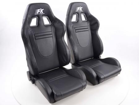 FK Sportsitze Halbschalensitze Set Racecar mit Sitzheizung u. Massage