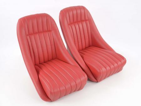 sedile sportivo sedile secchio pieno coppia destra + sinistra rosso