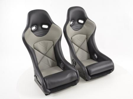 FK Sportsitze Auto Vollschalensitze Set mit Rückenschale aus Fiberglas