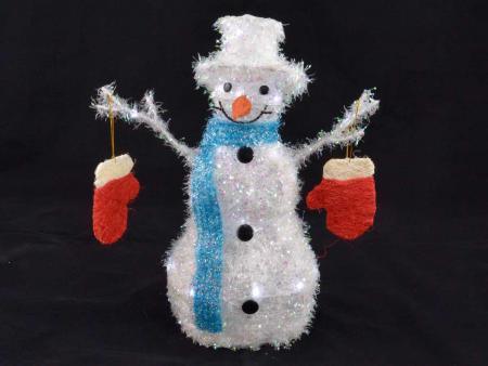 Blaue Weihnachtsbeleuchtung.Tuning Shop Weihnachtsbeleuchtung Schneemann Mit Handschuh Blau