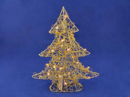 Weihnachtsbeleuchtung Tannenbaum M, gold