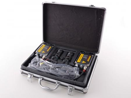 Xenon Umrüstkit H4 HID universal in schwarzer Metallbox 8000K