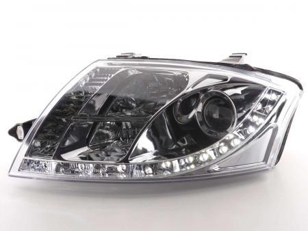 Daylight LED TFL Optik Scheinwerfer Set Audi TT Typ 8N 99-05 chrom