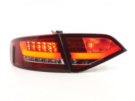 LED Lightbar Rückleuchten Hekleuchten Audi A4 B8 8K Lim 07-11 rot/klar