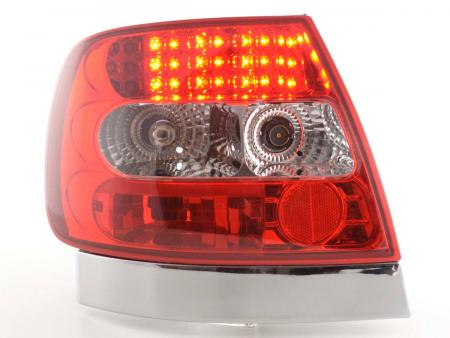 LED Rückleuchten Heckleuchten Audi A4 Limousine Typ B5 95-00 klar/rot