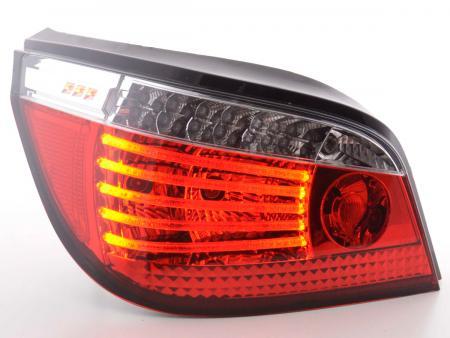LED Lightbar Rückleuchten Set BMW 5er Limousine Typ E60 Bj. 03- klar/rot