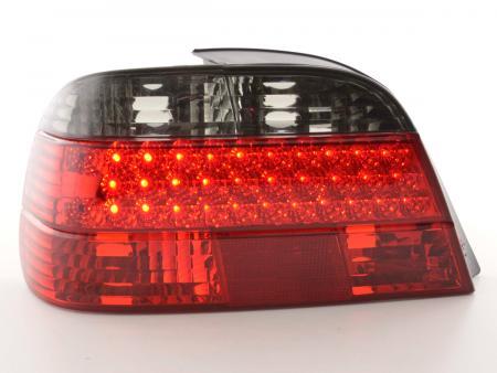 Led Rückleuchten Heckleuchten Set BMW 7er Typ E38 Bj. 97-02 schwarz/rot