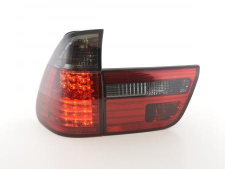 LED Rückleuchten Heckleuchten Set BMW X5 Typ E53 Bj. 98-02 schwarz/rot