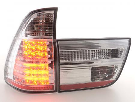 LED Rückleuchten Heckleuchten Set BMW X5 E53 Bj. 98-02 chrom