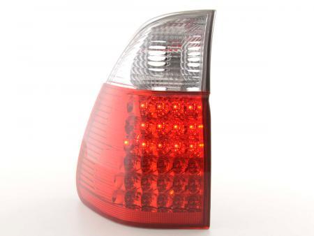 LED Rückleuchten Heckleuchten Set BMW X5 Typ E53 Bj. 04- klar/rot