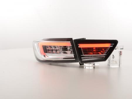 LED Lightbar Rückleuchten Set Renault Clio 4 (X98) Bj. ab 2012 chrom