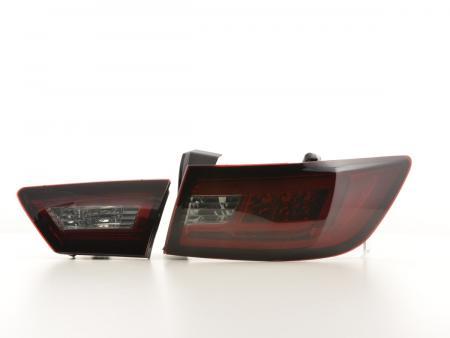LED Lightbar Rückleuchten Set Renault Clio 4 (X98) Bj. ab 2012 rot/schwarz