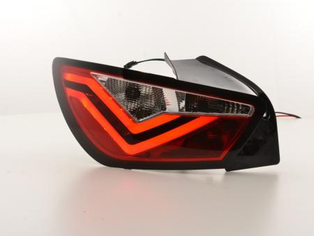 LED Lightbar Rückleuchten Set Seat Ibiza 6J 3-Türer Bj. 08-12 rot/klar