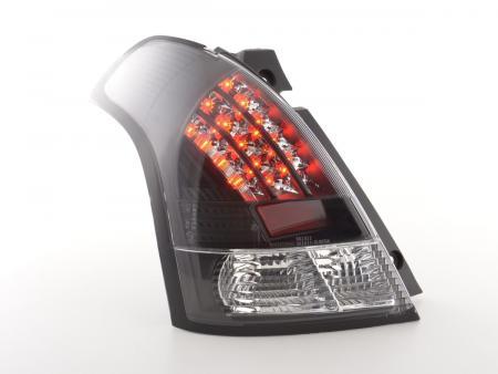 LED Rückleuchten Heckleuchten Set Suzuki Swift MZ  2005 - 2010 klar/schwarz