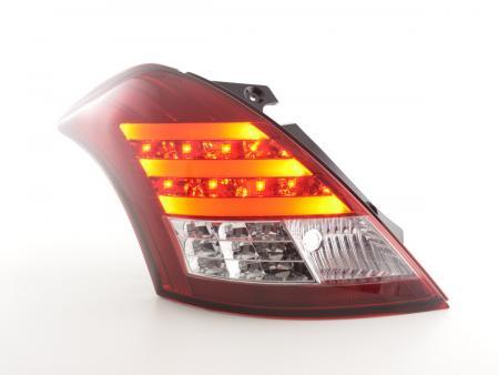 LED Lightbar Rückleuchten Set Suzuki Swift Sport Bj. 11-13 rot/klar