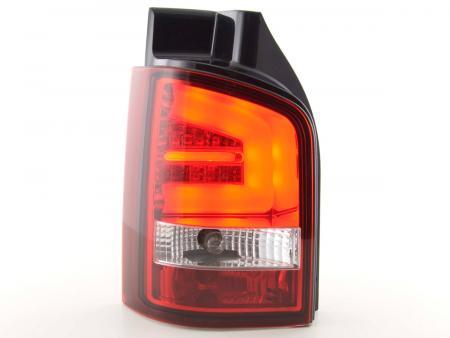 LED Lightbar Rückleuchten Set VW T5 Bj. 03-09 rot/klar