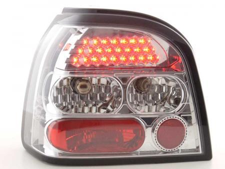 LED Rückleuchten Heckleuchten Set VW Golf 3 1HXO 1992 - 1997 chrom